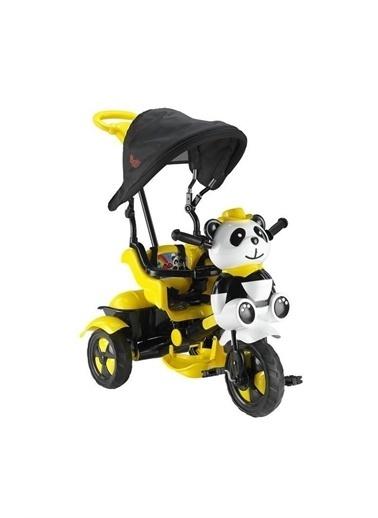 BabyHope Little Panda 3 Tekerli Itmeli Bisiklet Renkli